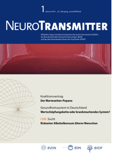 NeuroTransmitter vom Januar 2014