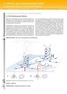luftdruckgebiete und windgürtel der erde
