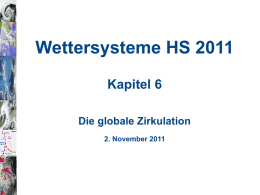 Wettersysteme HS 2011