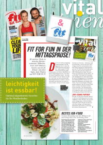fit for fun in der mittagspause!