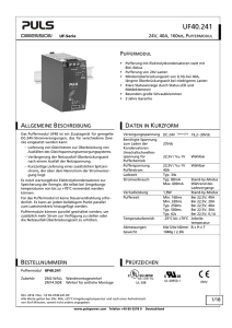 UF40.241 - PULS Power Supply
