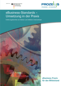 eBusiness-Standards – Umsetzung in der Praxis