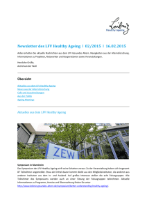 Newsletter des LFV Healthy Ageing 02/2015 16.02.2015