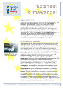 factsheet klimawandel - Europe Direct Oldenburg