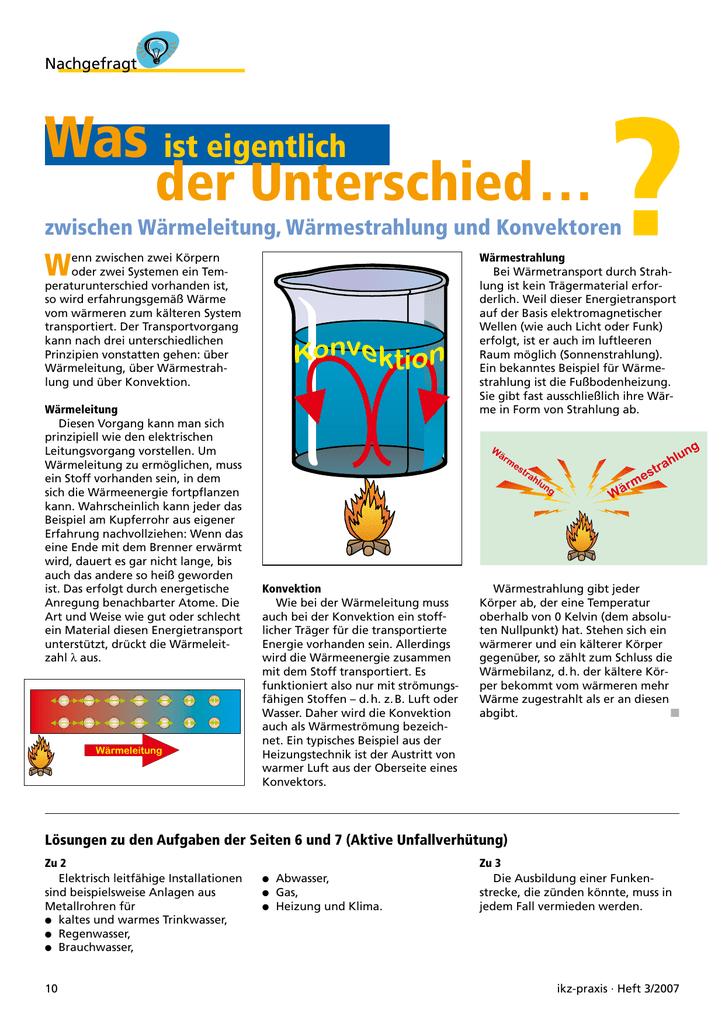 Gemütlich Leitung Konvektion Und Strahlung Arbeitsblatt Galerie ...