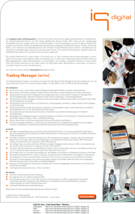 Trading Manager (w/m)