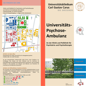 Flyer Universitäts-Psychose-Ambulanz