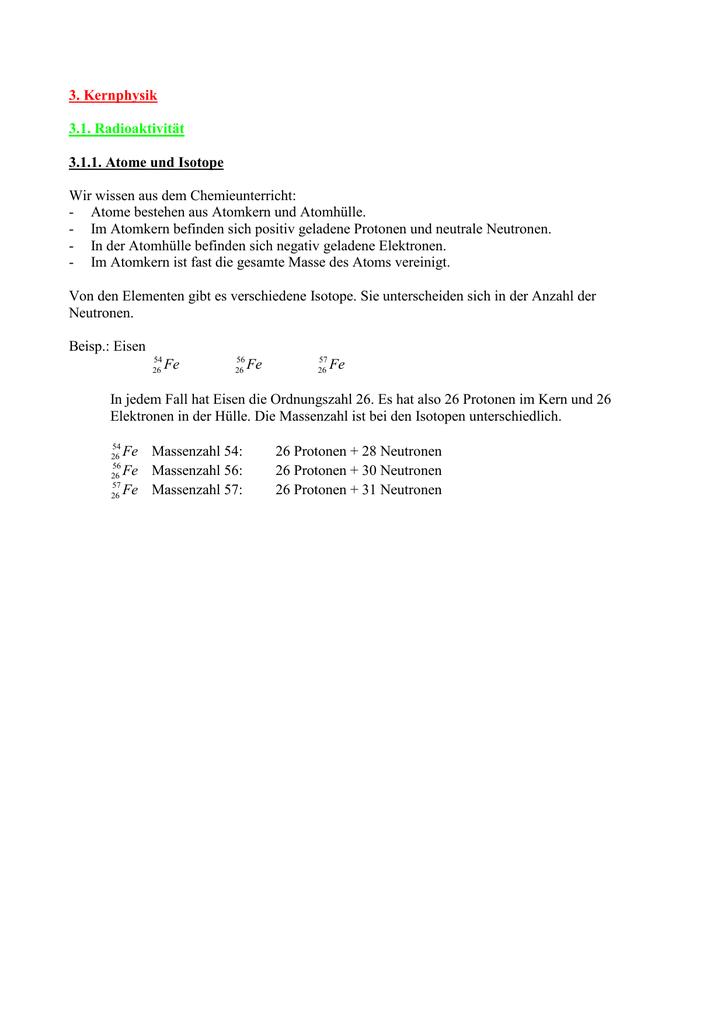 Fein Chemie Ordnungszahl Und Massenzahl Arbeitsblatt Antworten ...