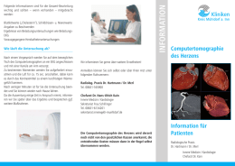 Info-Flyer Computertomographie des Herzens
