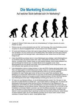 Die Marketing Evolution - RAVINIA Marketing GmbH