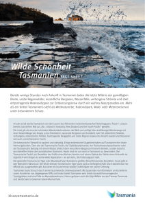 Wilde Schönheit Tasmanien FACT SHEET