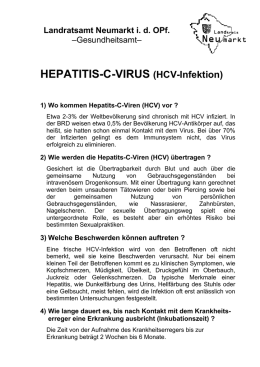 HEPATITIS-C-VIRUS (HCV-Infektion)