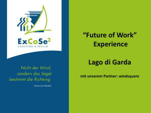 """Future of Work"" Experience Lago di Garda"