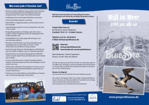 Müll im Meer - Project Blue Sea e.V.