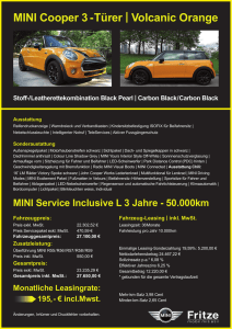 1.2 MB PDF Angebot - MINI Cooper Volcanic Orange