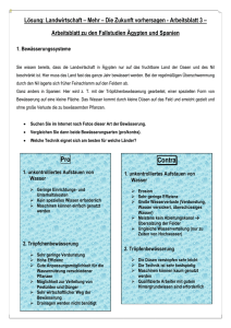 Worksheet about the case studies Egypt and Spain