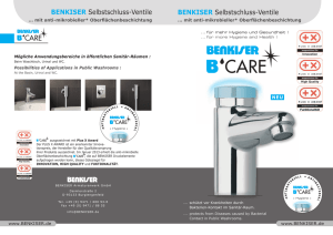 B-CARE Folder A5.indd - BENKISER Armaturenwerk GmbH