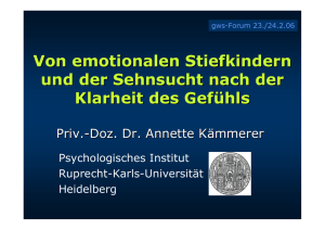 Emotionale Stiefkinder, gws-Forum