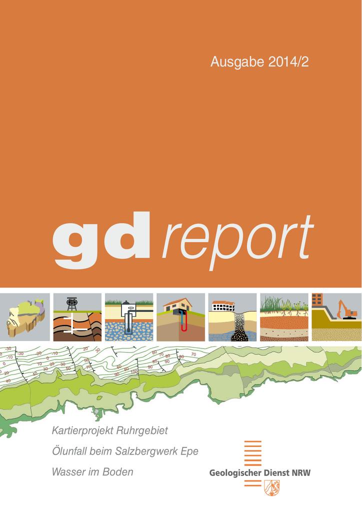 Geologische Karte Ruhrgebiet.Gdreport 2 2014 Geologischer Dienst Nrw
