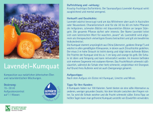 Lavendel-Kumquat - Spitzner Physiotherapie