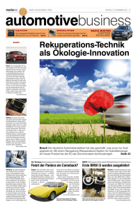 Rekuperations-Technik als Ökologie-Innovation