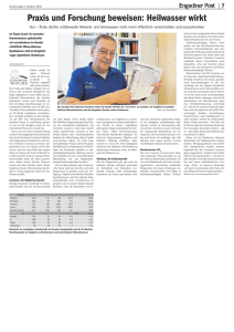 Artikel Engadiner Post, 8. Oktober 2015