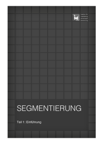 segmentierung - Institut für Marketing
