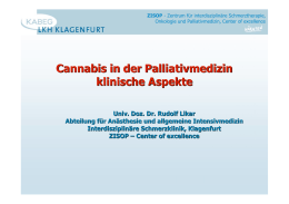 Cannabis in der Palliativmedizin klinische Aspekte