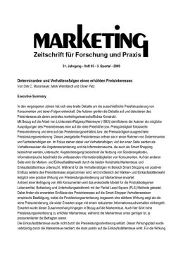 pdf fernuni hagen determinanten und verhaltensfolgen eines erhhten preisinteresses - Fernuni Hagen Bewerbung