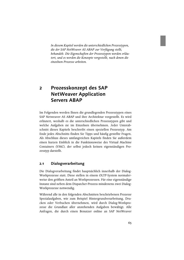 SAP NetWeaver AS ABAP - Systemadministration - EDV
