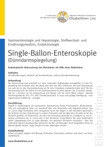 Single-Ballon-Enteroskopie