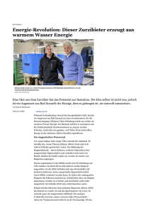 weiterlesen - Swiss Blue Energy AG