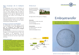 Embryotransfer - Freie Universität Berlin