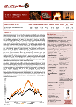 Global Resources Fund - Monatsbericht 06/2012