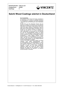 Salchi Wood Coatings wächst in Deutschland