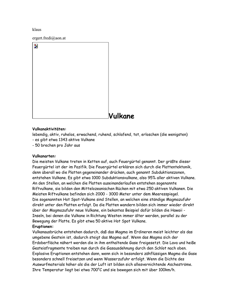 bekannte aktive vulkane