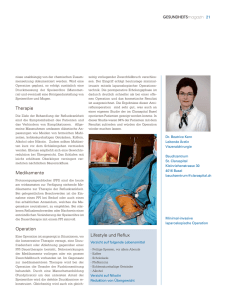 Therapie Medikamente Operation Lifestyle und Reflux