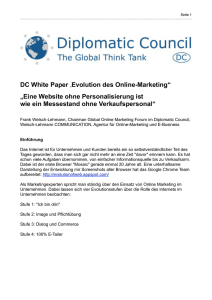 DC Whitepaper Evolution des Online-Marketing - Welsch