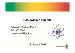 Arbeitsblatt - Unterrichtsmaterialien Chemie