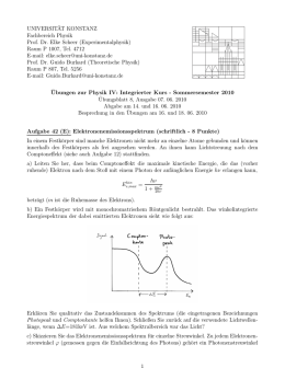 Blatt 8 - Theoretical Physics at University of Konstanz/Theoretische