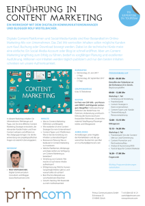 einführung in content marketing