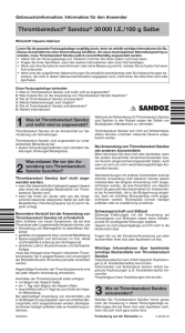 Thrombareduct® Sandoz® 30 000 IE/100 g Salbe
