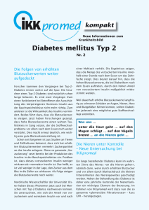 Diabetes mellitus Typ 2 - IKK Brandenburg und Berlin