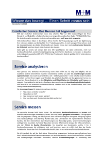 Service analysieren Service messen