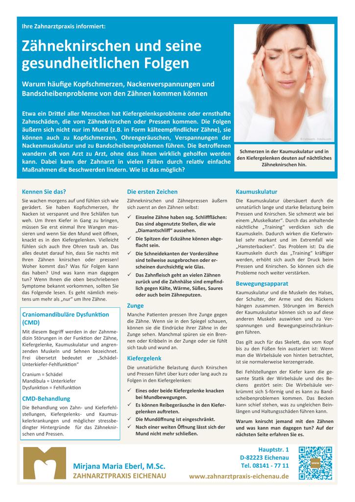 Kiefergelenksprobleme / Zähneknirschen