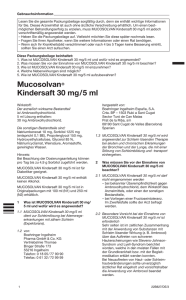 Mucosolvan® Kindersaft 30 mg/5 ml