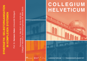 Abstract - Collegium Helveticum