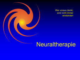Neuraltherapie
