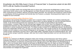 "Einzelheiten des ING-DiBa Award ""Future of Financial Data"" in"