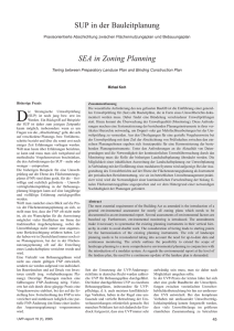 SUP in der Bauleitplanung SEA in Zoning Planning